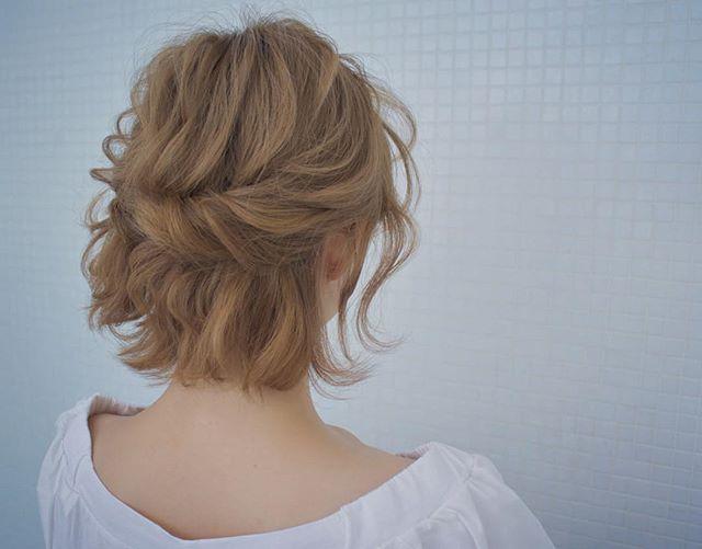 花嫁 ハーフアップ 髪型