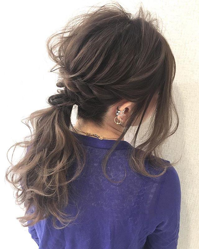 前髪なし×ポニーテールアレンジ《黒髪・暗髪》4