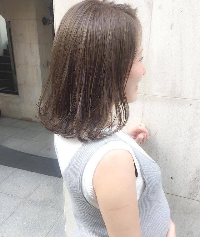 ボブスタイルに似合う夏のトレンドヘアカラー《カーキ》5