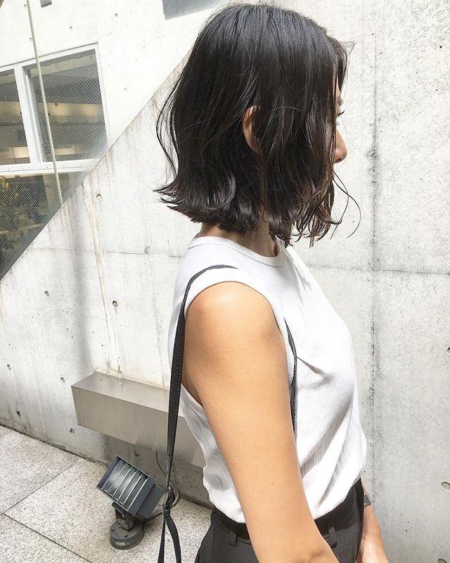 黒髪 ミディアム8