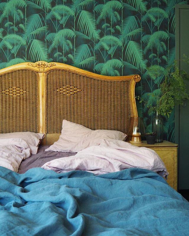ブルー インテリア ベッドカバー