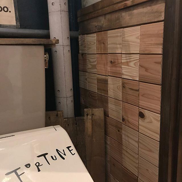 トイレのおしゃれなDIYアイデア《木材》3