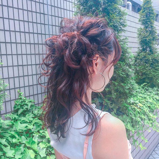 花嫁 ハーフアップ 髪型11