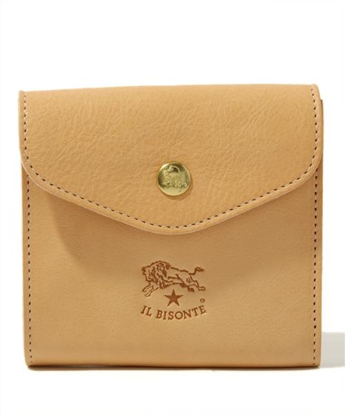 フラップデザインの二つ折り財布
