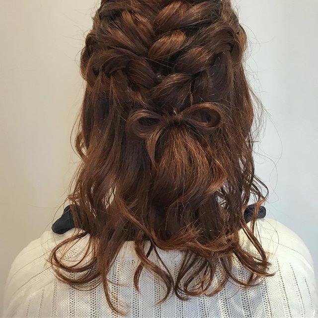 花嫁 ハーフアップ 髪型7