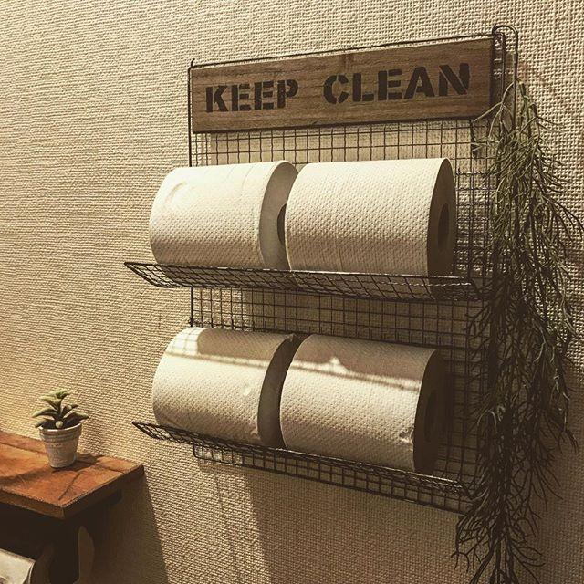トイレのおしゃれなDIYアイデア《100均アイテム》2