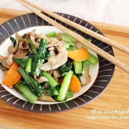 人気の食べ方!豚肉と小松菜の旨味炒め