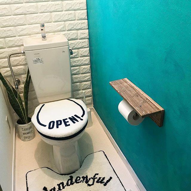 トイレのおしゃれなDIYアイデア《木材》