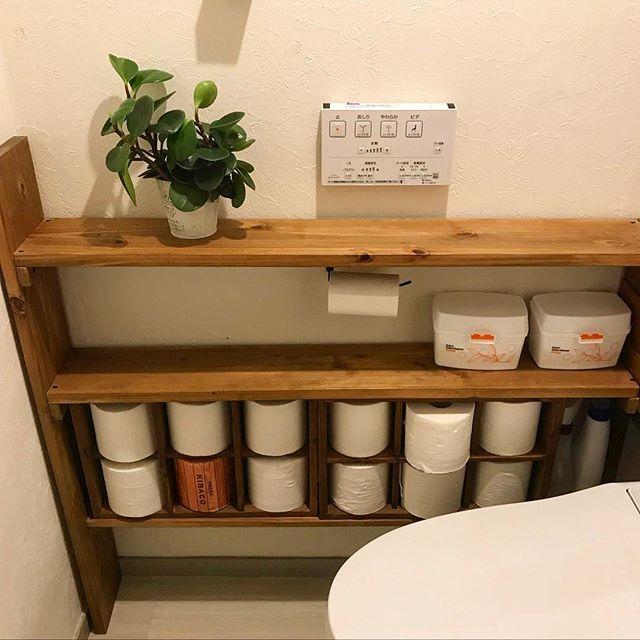 トイレのおしゃれなDIYアイデア《木材》4