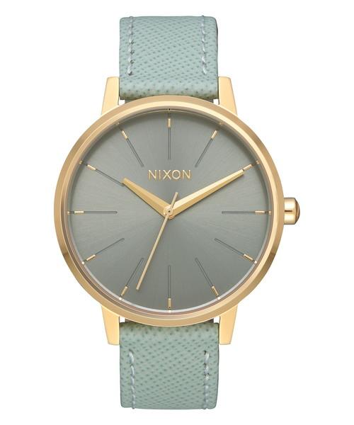 [NIXON] KENSINGTON LEATHER NA1082814-00 LIGHT GOLD/AGAVE