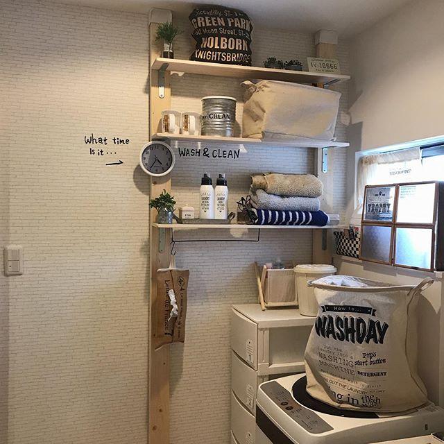 ディアウォールの洗面所DIY活用アイデア2