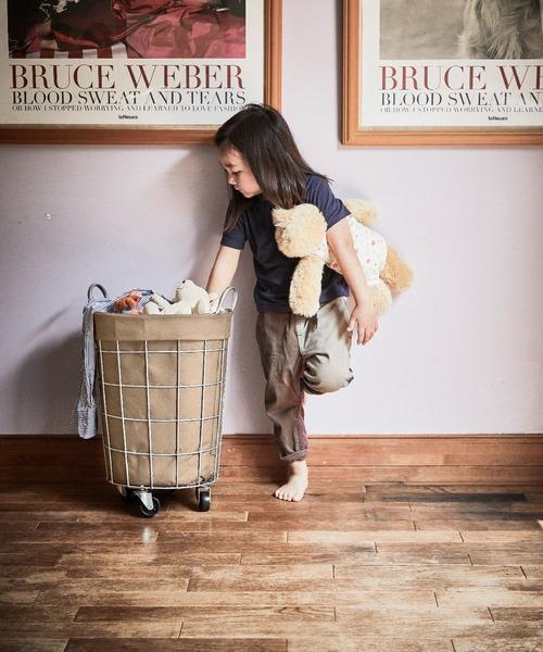 [BRID] ブリッド ワイヤーアーツ&プロ ラウンド バスケット キャスター付き 収納 洗濯かご / BRID WIRE ARTS & PRO.laundry ROUND BASKET WITH CASTER_33L