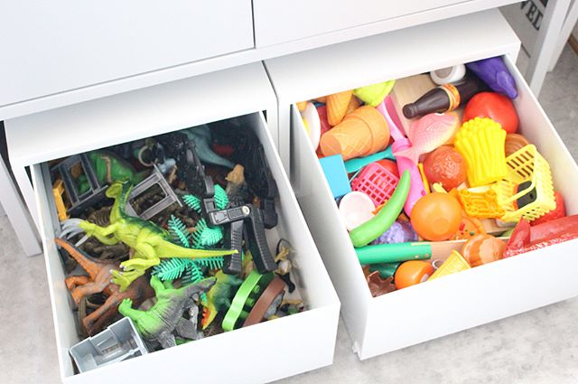 無印のPP収納ケースはおもちゃ収納もばっちり