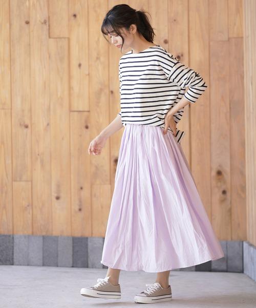 [rps] コットンボイルロングスカート