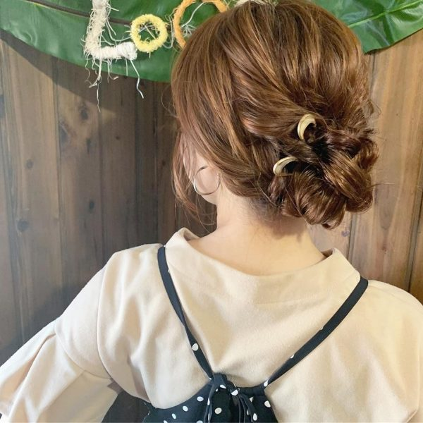 30代に似合うショートのヘアアレンジ17