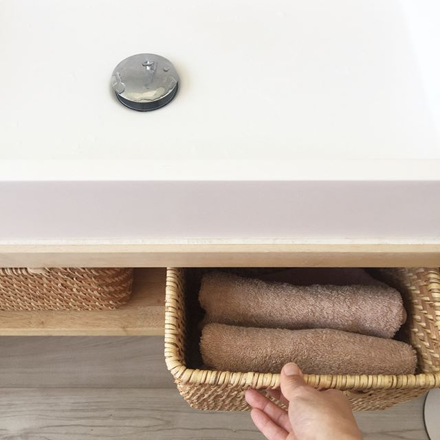 洗面所 タオル収納14