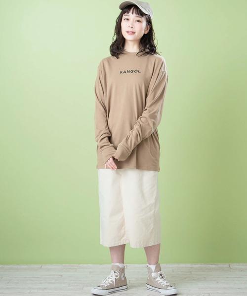 [MONO-MART] ▽WEB限定 KANGOL/カンゴール 別注ロゴ刺繍 L/S オーバーサイズカットソー