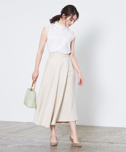 きれいめファッション◎フレアスカート×ブラウス