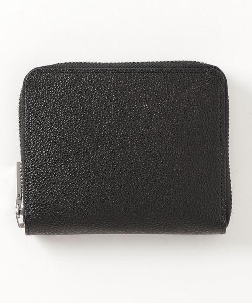 ミドルサイズのラウンドジップ二つ折り財布