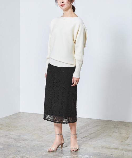 [ur's] レースタイトスカート