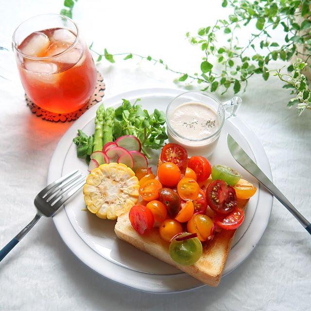 簡単おすすめレシピ!ミニトマトのオープンサンド