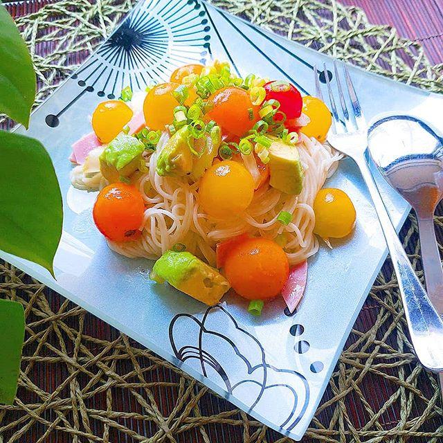 美味しいレシピ!ミニトマトの冷製パスタ風素麺