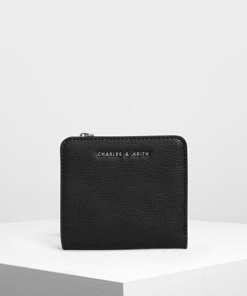[CHARLES & KEITH] クラシックスナップボタン スモールウォレット / Classic Snap Button Small Wallet
