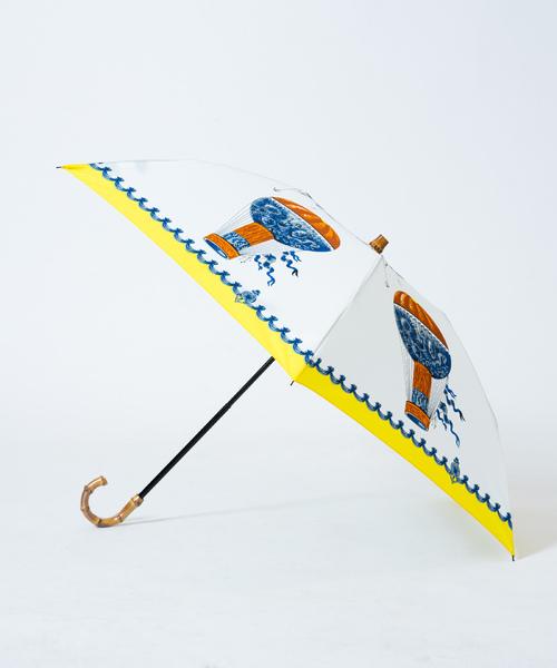 [allureville] 【manipuri(マニプリ)】プリント 晴雨兼用 折りたたみ傘.