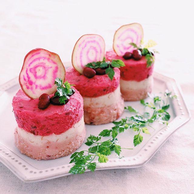 子供の誕生日パーティーに!三層のポテトサラダ