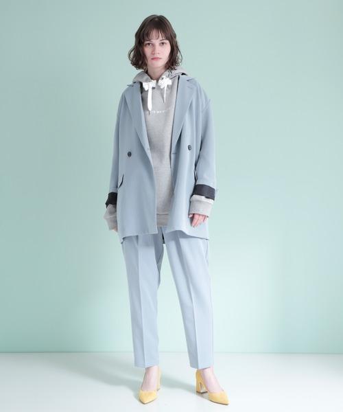 [EMMA CLOTHES] ビッグシルエットポンチプルオーバーロゴパーカー(LEAVE MΣ ALONE)
