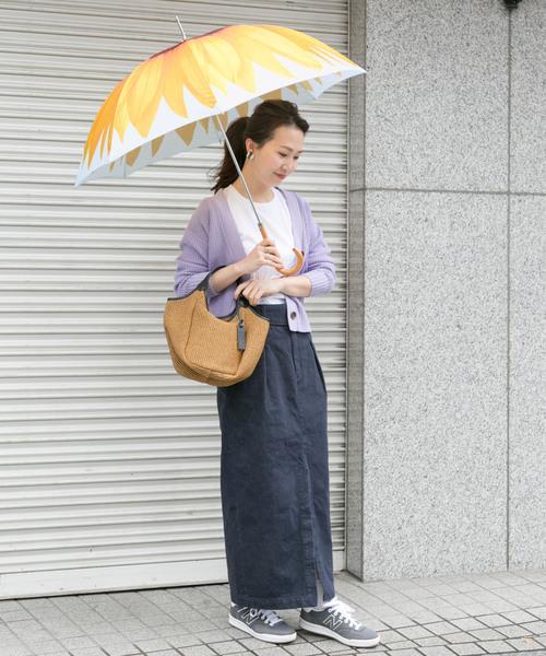 40代夏の雨の日コーデ【スカート】
