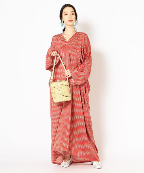 [SHIPS for women] NOrya ayroN:プリント スキッパーワンピース