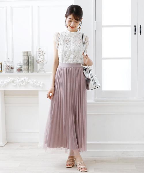 [Doula Doula] プリーツチュールスカート
