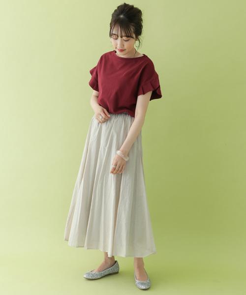 [ITEMS URBANRESEARCH] コットンボイルギャザースカート