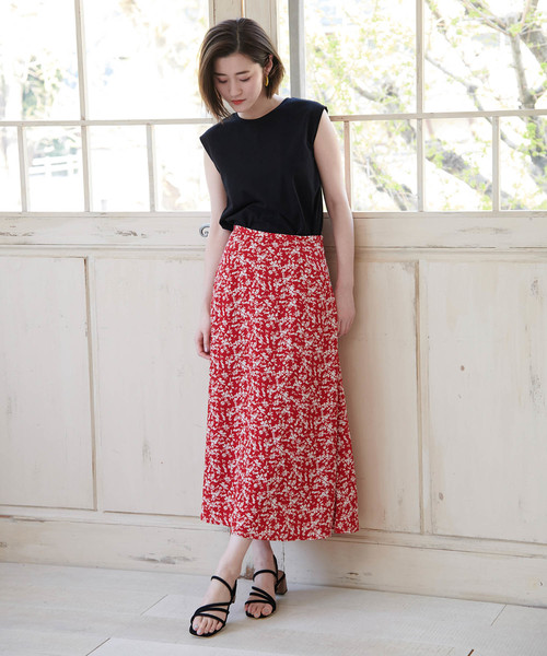 [ROPE' PICNIC] 【WEB限定】小花柄マーメイドスカート