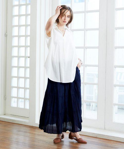 インド綿スカートのコーデ