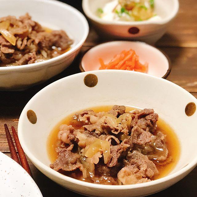 生姜風味の牛皿