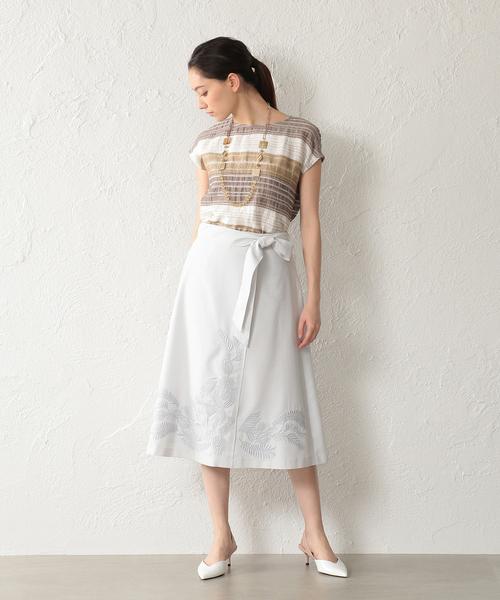 [SANYO SELECT] 【ウォッシャブル】ダルスラブ刺繍スカート