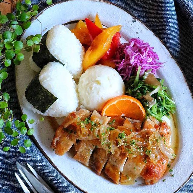 鶏肉のオレンジマーマレードソテーのおしゃれランチ