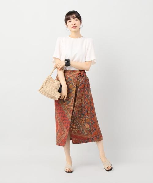 [IENA] Persian carpet print ラップスカート◆
