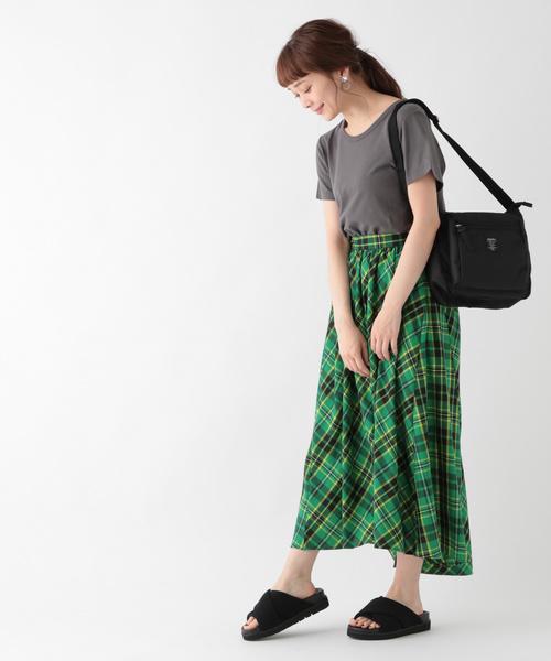 [studio CLIP] チェック柄スカート