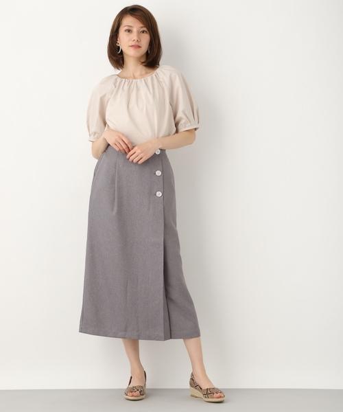 [LEPSIM] ボタンナロースカート 839998