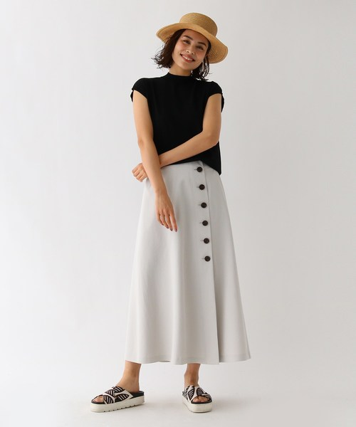 [aquagirl] ドライタッチボタンラップスカート