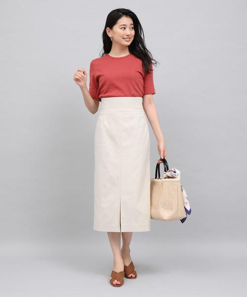 [ROPE'] ストレッチハイウエストタイトスカート