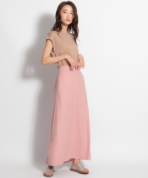 [niko and...] リネンレーヨンツイルフレアロングスカート