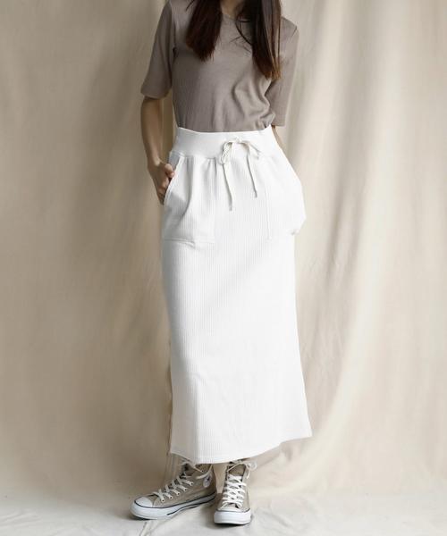 [eversince] サーマル/リラックスロングスカート