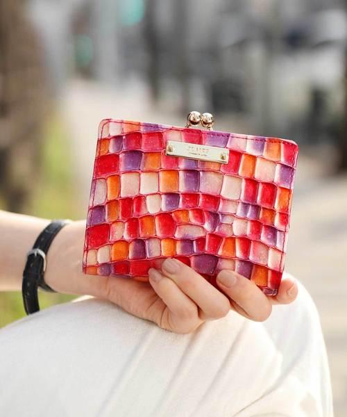 [florist] 【GINA掲載】【CLAIRE】ステンドグラスイタリアンレザーがま口財布
