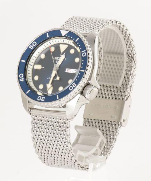 自動巻きのメタルメッシュベルト時計