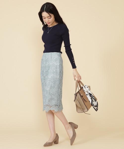 [N.(N. Natural Beauty Basic)] 【新色追加】◆ケミカルレースタイトスカート