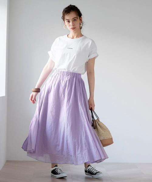 [coen] ソリッドマキシスカート#